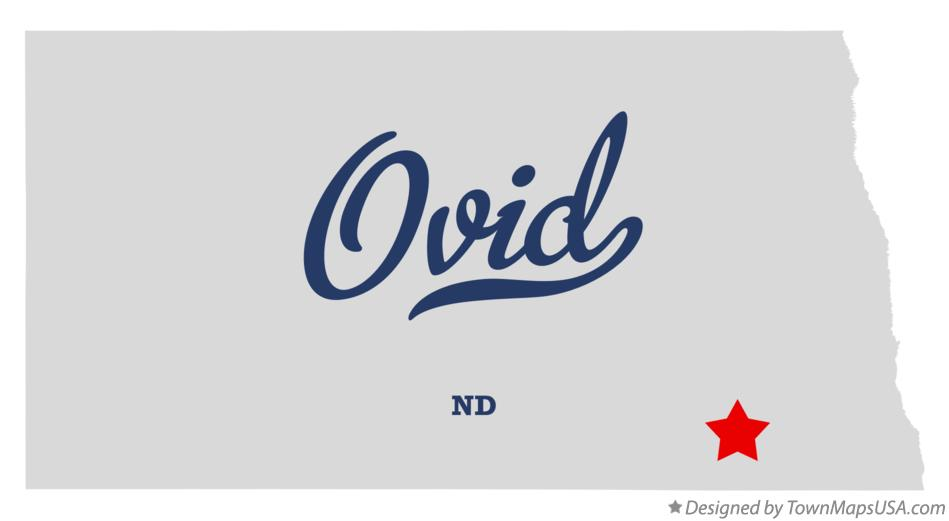 Map of Ovid North Dakota ND