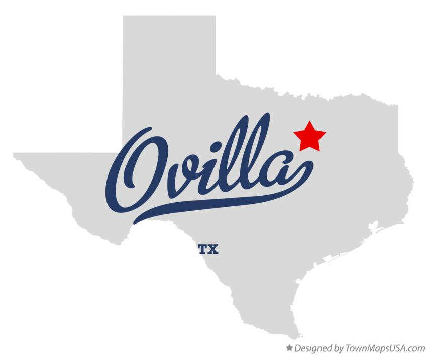 Map of Ovilla Texas TX