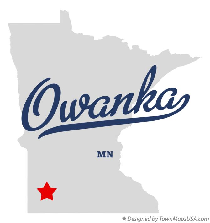 Map of Owanka Minnesota MN