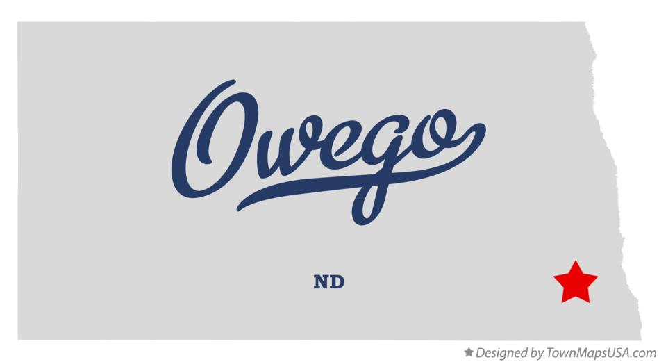 Map of Owego North Dakota ND