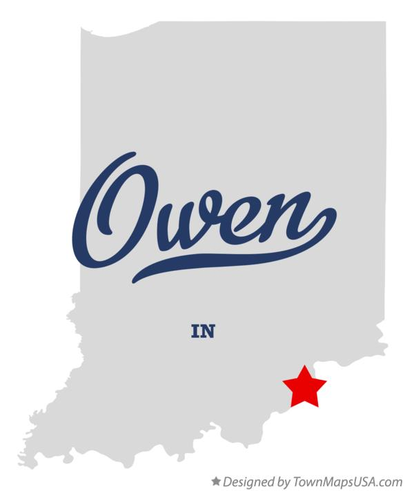 Map of Owen Indiana IN