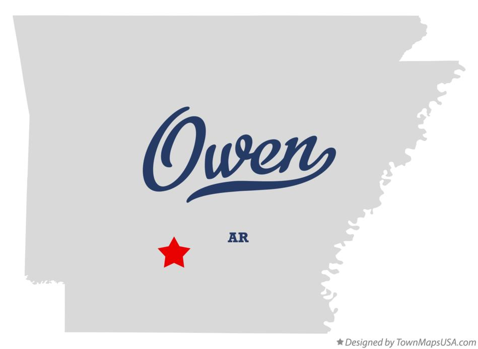 Map of Owen Arkansas AR