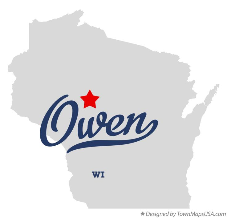 Map of Owen Wisconsin WI