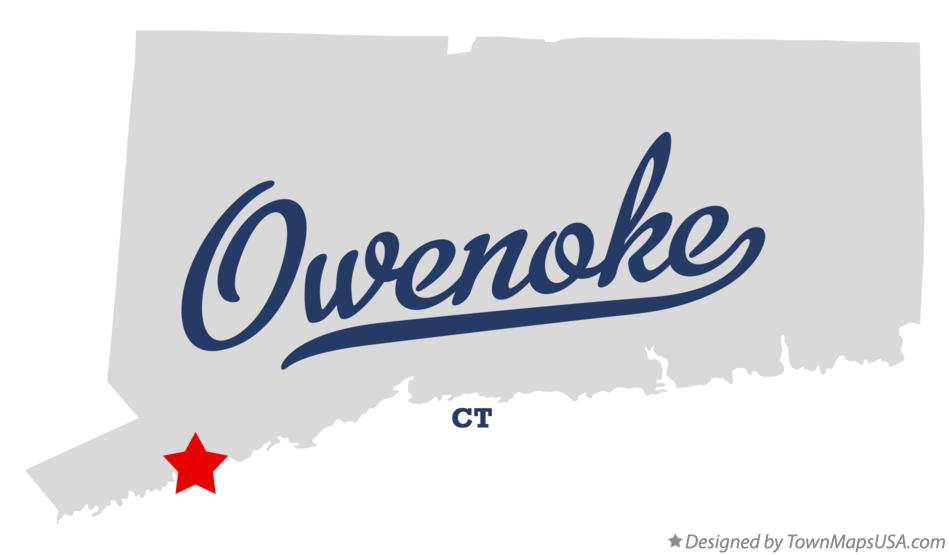 Map of Owenoke Connecticut CT