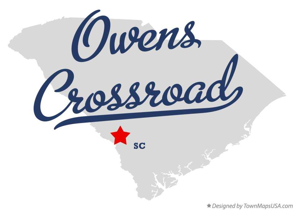 Map of Owens Crossroad South Carolina SC