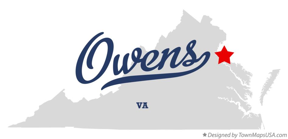 Map of Owens Virginia VA