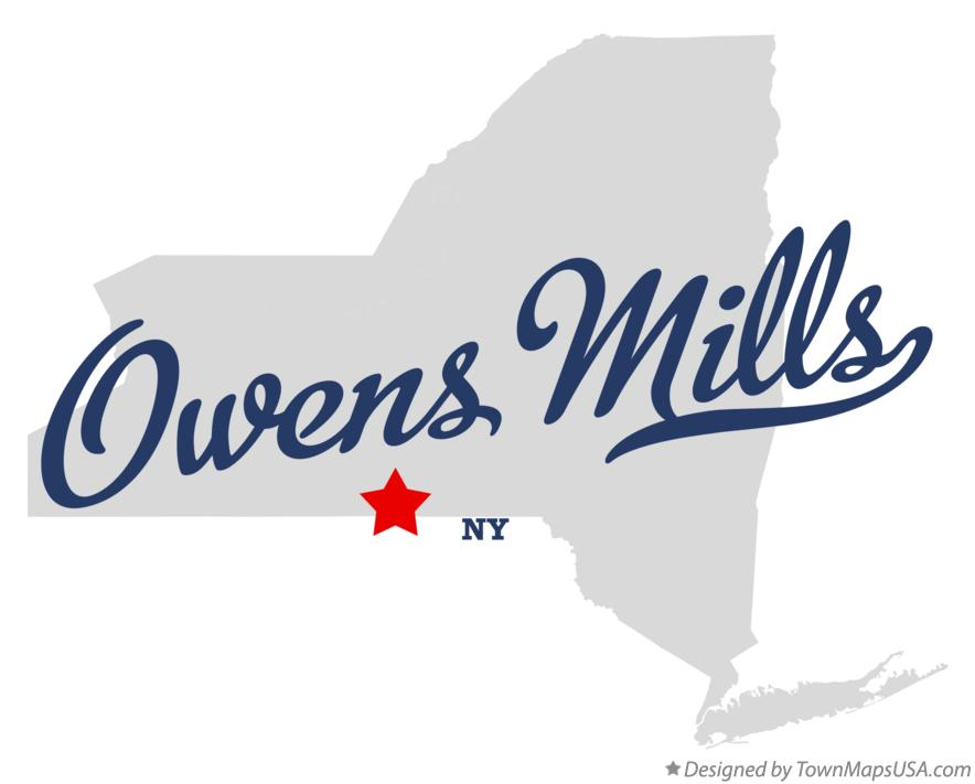 Map of Owens Mills New York NY