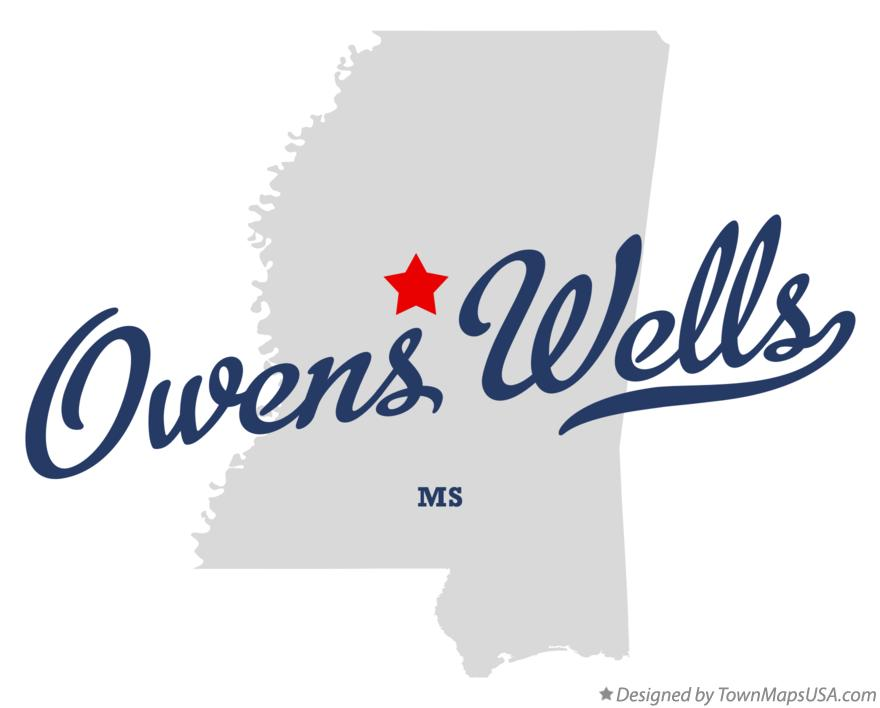 Map of Owens Wells Mississippi MS