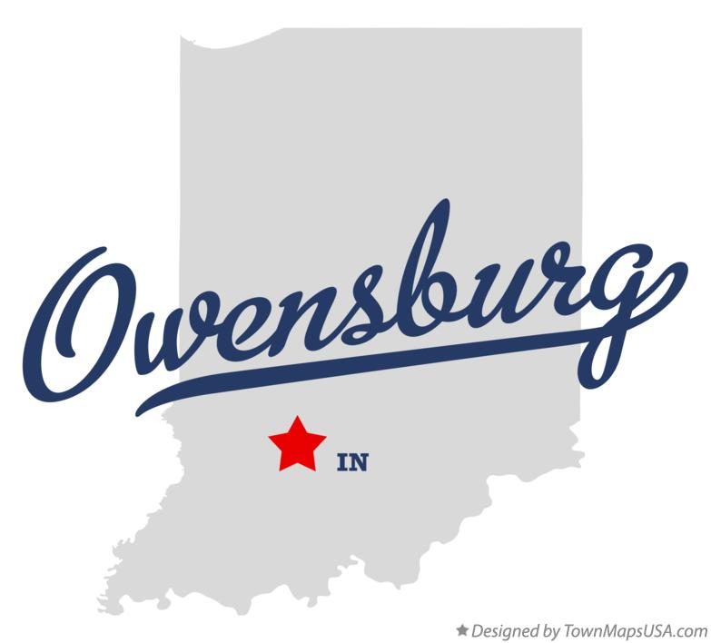 Map of Owensburg Indiana IN