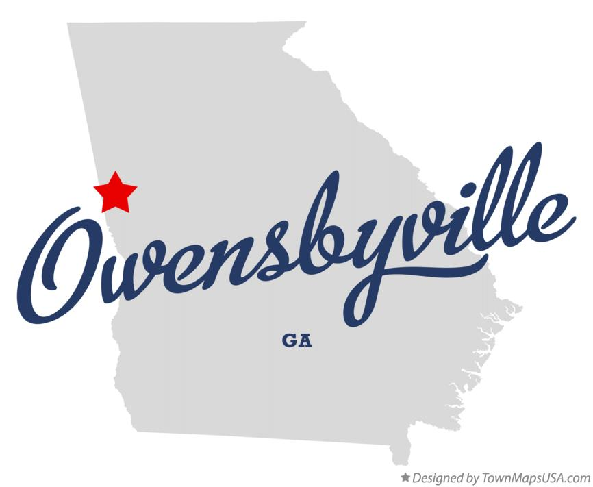 Map of Owensbyville Georgia GA