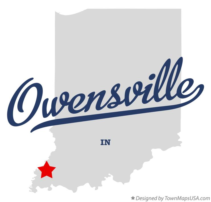 Map of Owensville Indiana IN