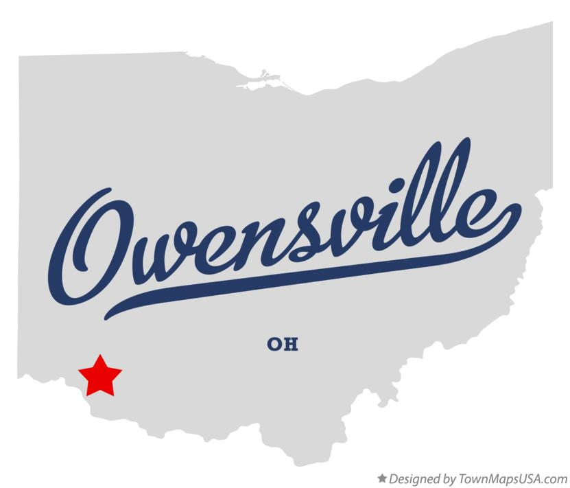 Map of Owensville Ohio OH