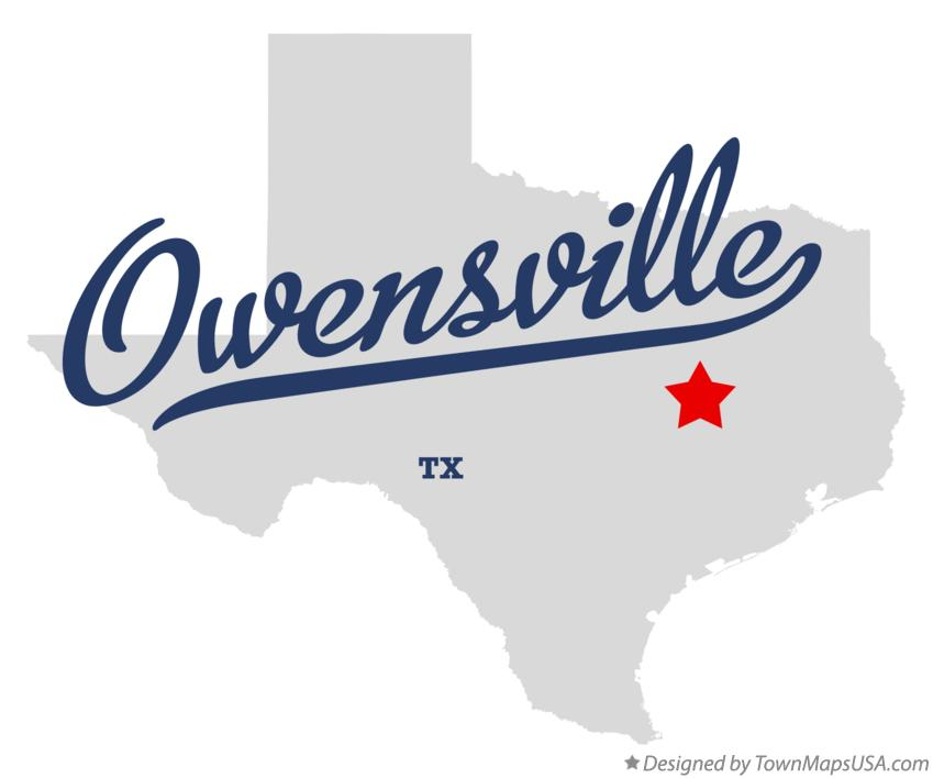 Map of Owensville Texas TX