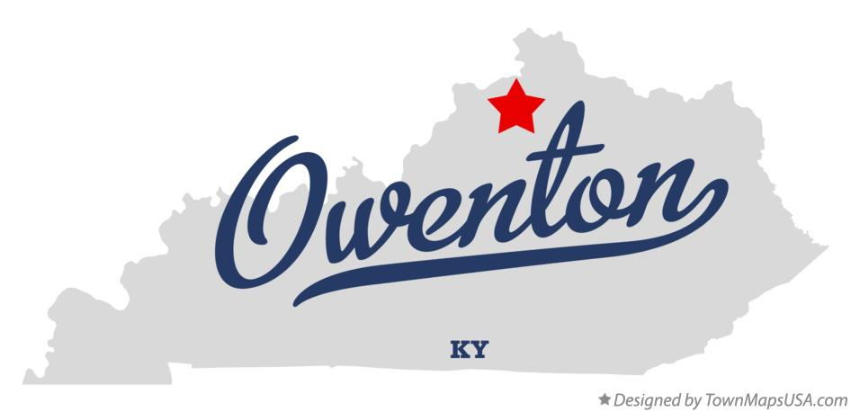 Map of Owenton Kentucky KY