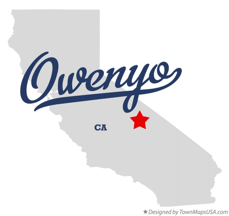 Map of Owenyo California CA