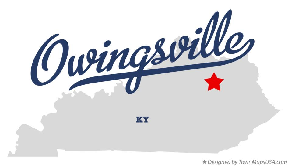 Map of Owingsville Kentucky KY