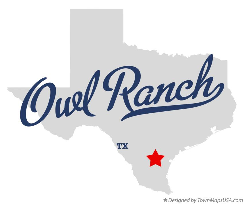 Map of Owl Ranch Texas TX
