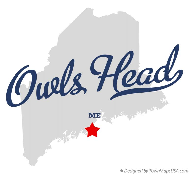 Map of Owls Head Maine ME