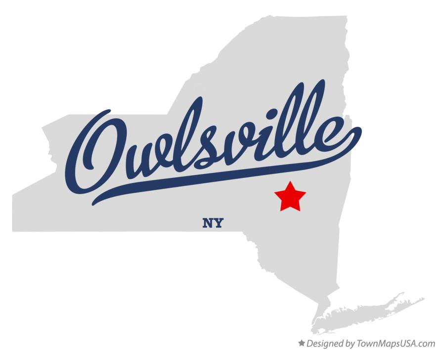 Map of Owlsville New York NY