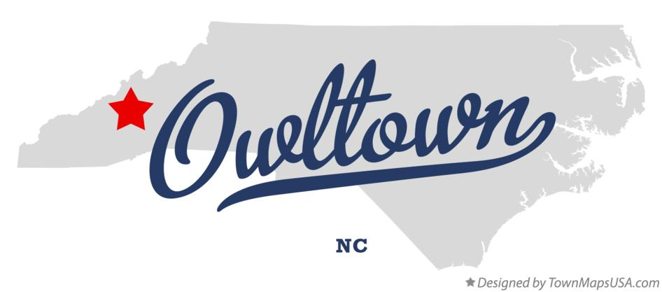 Map of Owltown North Carolina NC