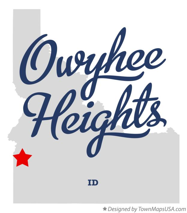 Map of Owyhee Heights Idaho ID