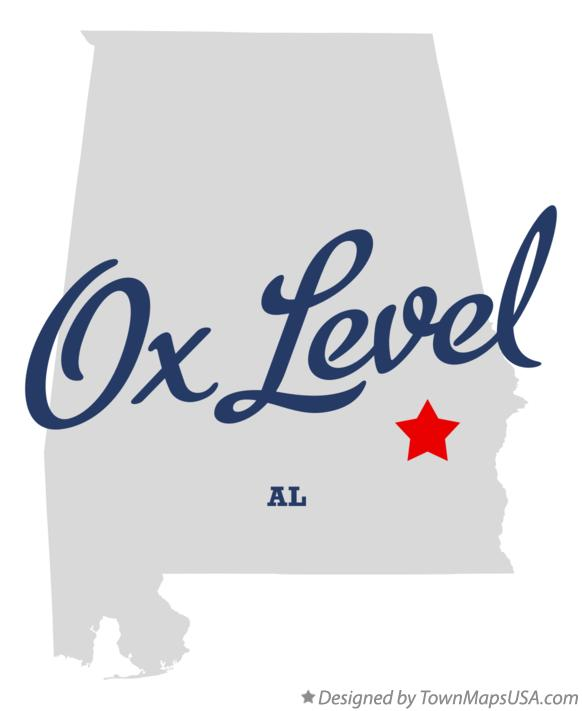 Map of Ox Level Alabama AL