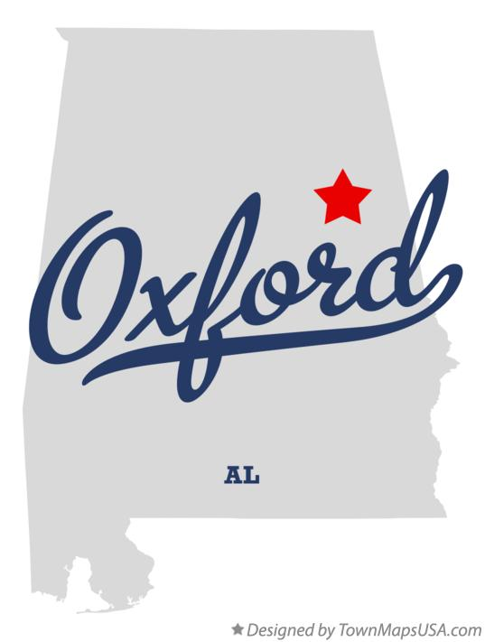Map of Oxford Alabama AL