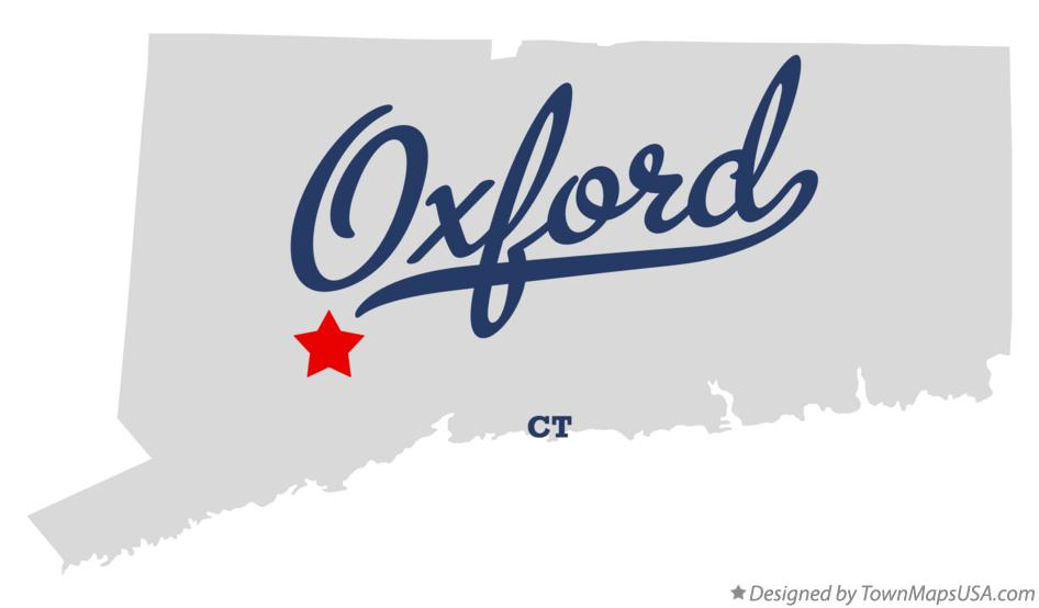 Map of Oxford, CT, Connecticut