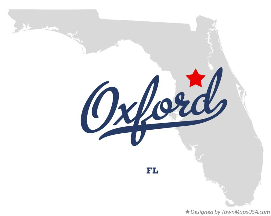 Map of Oxford Florida FL