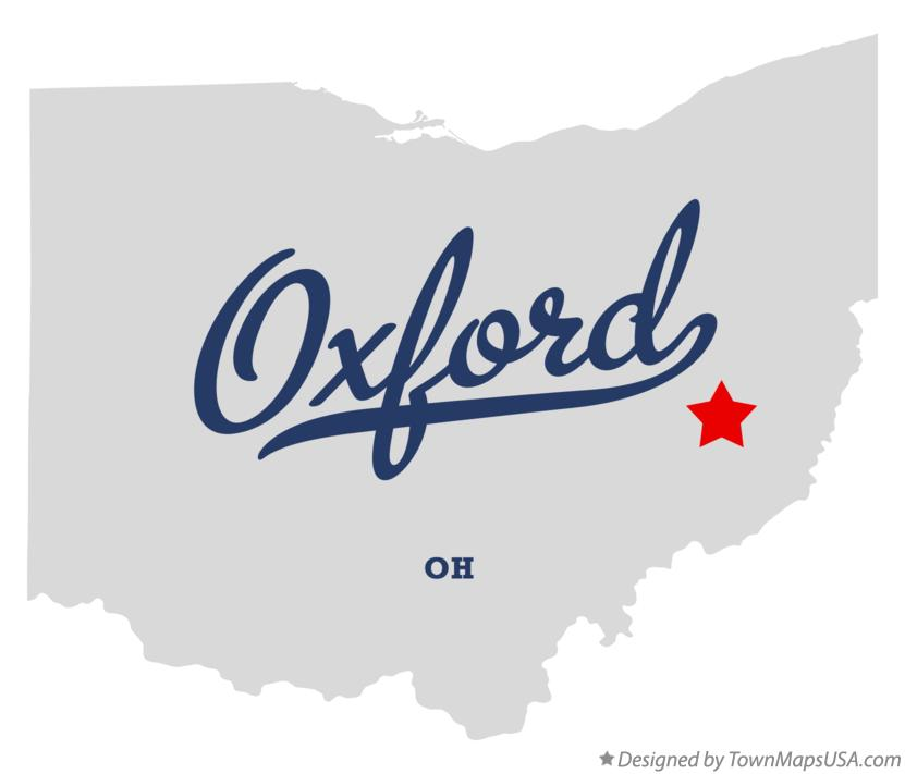 Map of Oxford Ohio OH