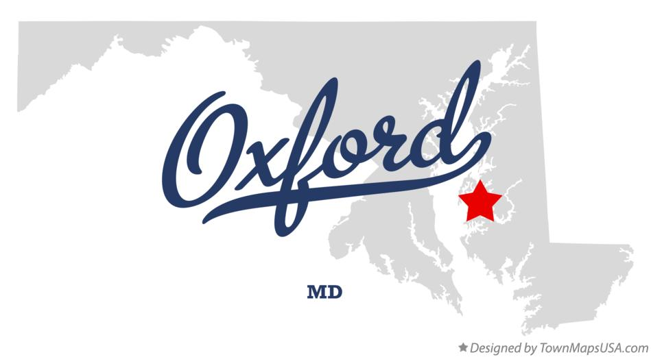 Map of Oxford Maryland MD