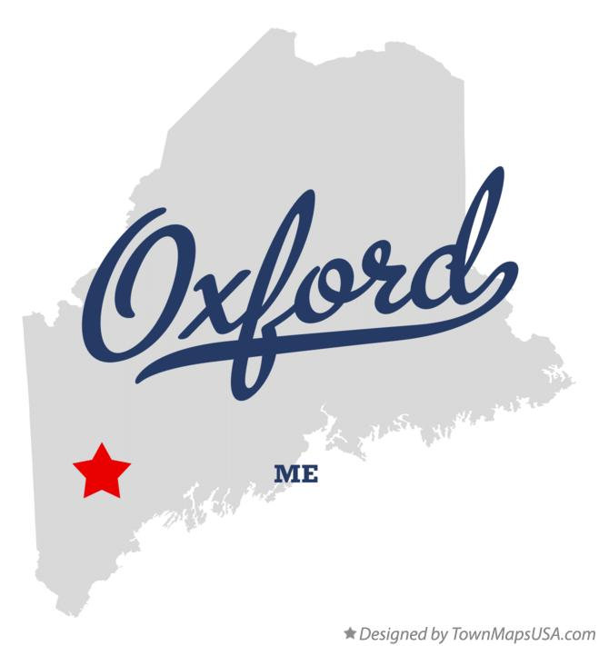 Map of Oxford Maine ME