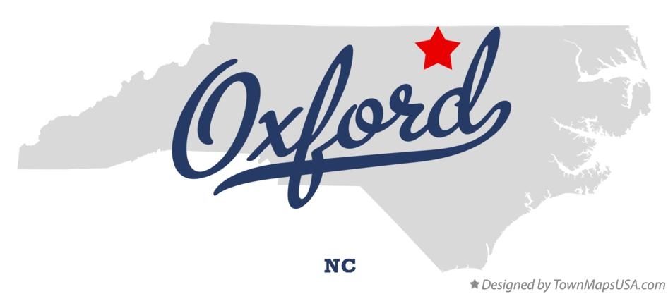 Map of Oxford North Carolina NC