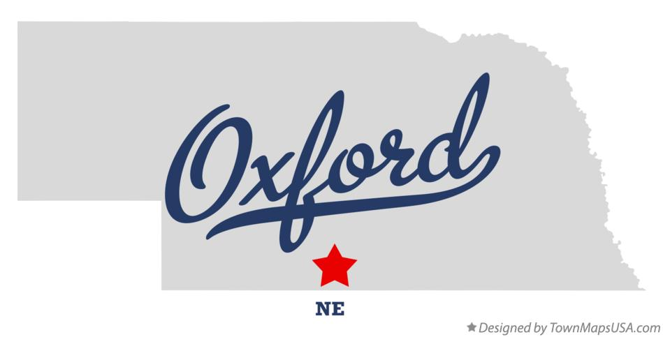 Map of Oxford Nebraska NE