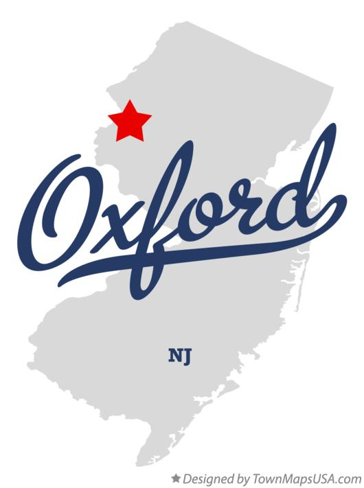 Map of Oxford New Jersey NJ
