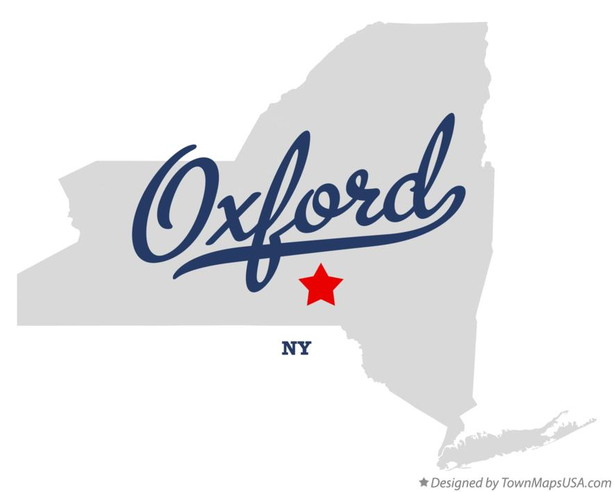 Map of Oxford New York NY