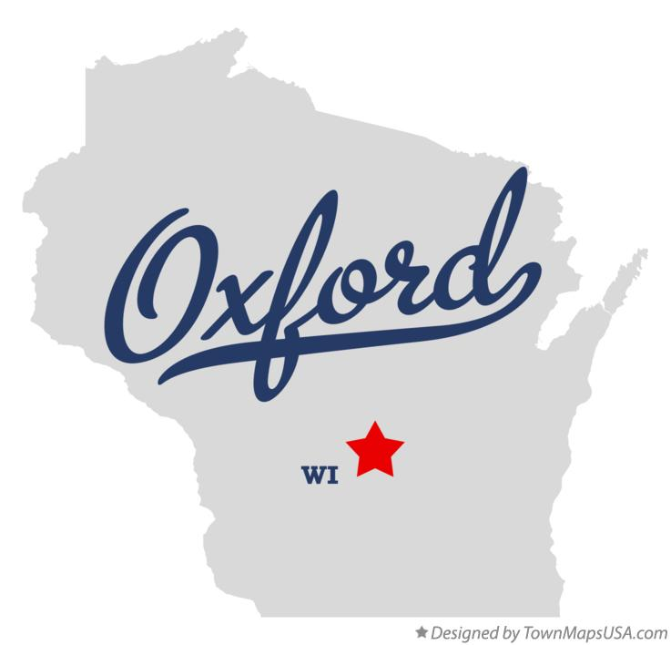 Map of Oxford Wisconsin WI
