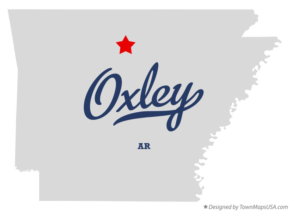 Map of Oxley Arkansas AR