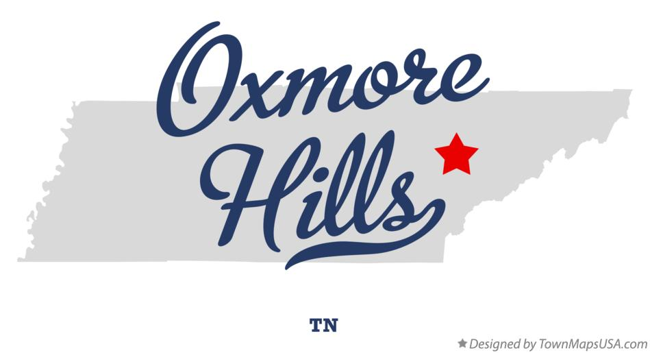 Map of Oxmore Hills Tennessee TN