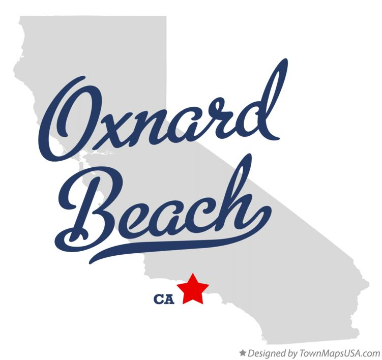Map of Oxnard Beach California CA