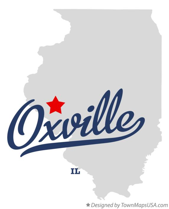 Map of Oxville Illinois IL