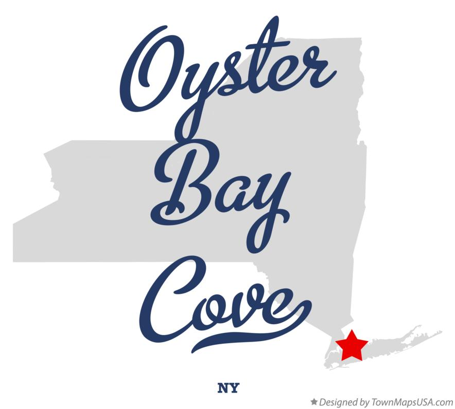 Map of Oyster Bay Cove New York NY