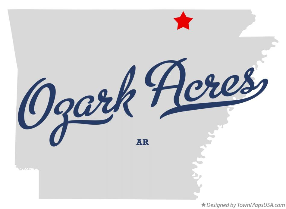 Map of Ozark Acres Arkansas AR