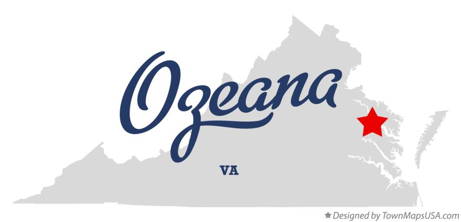 Map of Ozeana Virginia VA