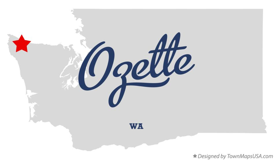Map of Ozette Washington WA