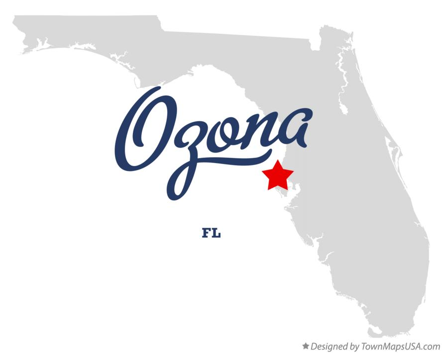 Map of Ozona Florida FL