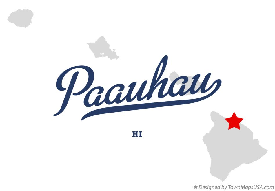 Map of Paauhau Hawaii HI
