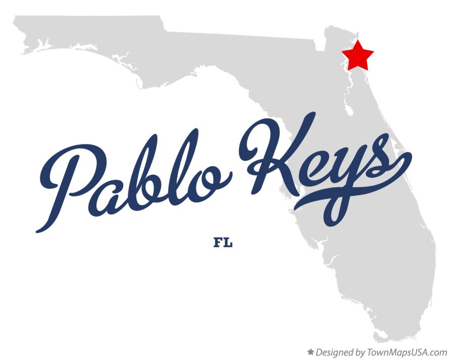 Map of Pablo Keys Florida FL