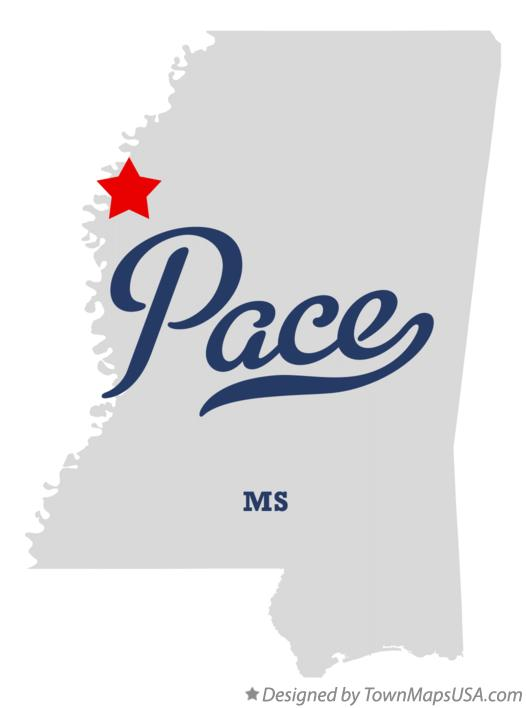 Map of Pace Mississippi MS