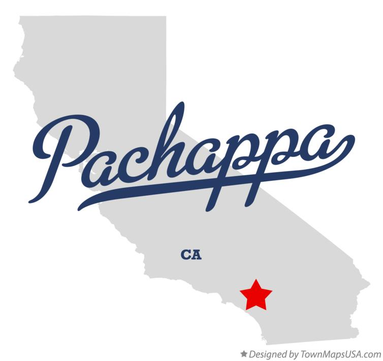 Map of Pachappa California CA